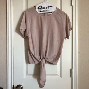 Madewell Button Back Tie Front Shirt XXS